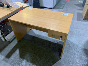 1200mm Oak Straight Desk With Built-in Drawer