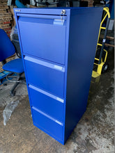 Load image into Gallery viewer, Bisley 4 Drawer Blue Filing Cabinet (New Slight Second) - Flogit2us.com
