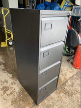 Load image into Gallery viewer, Trexus 4 Drawer Black Filing Cabinet (New Slight Second) - Flogit2us.com