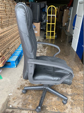 Load image into Gallery viewer, Leather Faced Executive Chair Black (New Slight Second) - Flogit2us.com