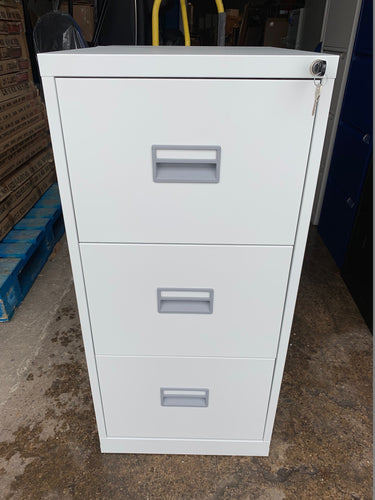 Talos 3 Drawer Grey Filing Cabinet (New Slight Second) - Flogit2us.com