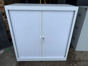 Talos Steel Storage Low Tambour White (New Slight Second) - Flogit2us.com