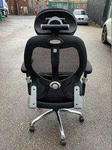 High Back Mesh Multi Function Office Chair Black - Flogit2us.com