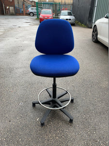 Eclipse 2 Lever Task Operator Chair Blue With Hi Rise Draughtsman Kit - Flogit2us.com