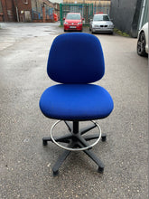 Load image into Gallery viewer, Eclipse 2 Lever Task Operator Chair Blue With Hi Rise Draughtsman Kit - Flogit2us.com