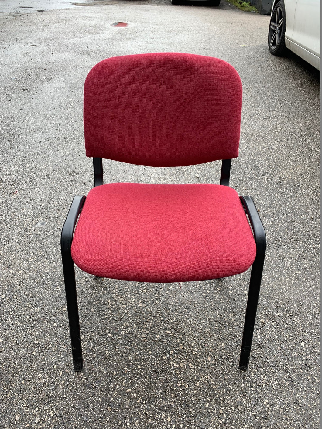 Red Cloth Stackable Meeting/Conference Chair - Flogit2us.com