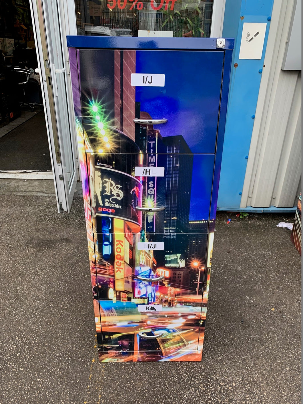 New York Themed 4 Drawer Filing Cabinet - Flogit2us.com