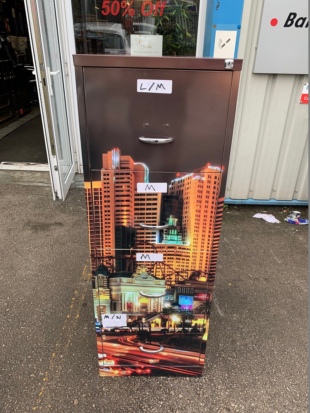 Las Vegas Themed 4 Drawer Filing Cabinet - Flogit2us.com