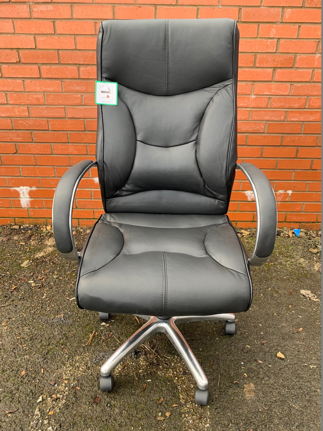 Whist Leather Faced Executive Manager's Chair (New Slight Second) - Flogit2us.com