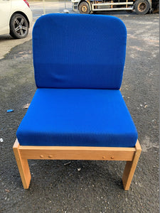 Pledge Reception Chair Blue (New Slight Second)