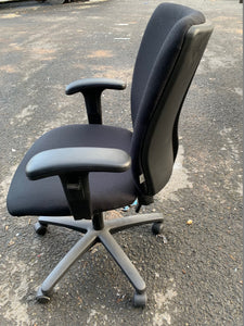Verco High Back Operators Chair With Arms Black (New Slight Second) - Flogit2us.com