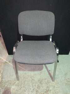 Grey Fabric Meeting/Reception Chair - Flogit2us.com