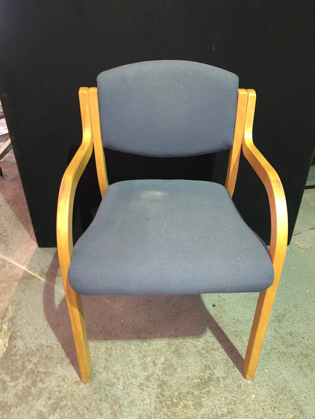 Blue Fabric Meeting/Reception Chair - Flogit2us.com