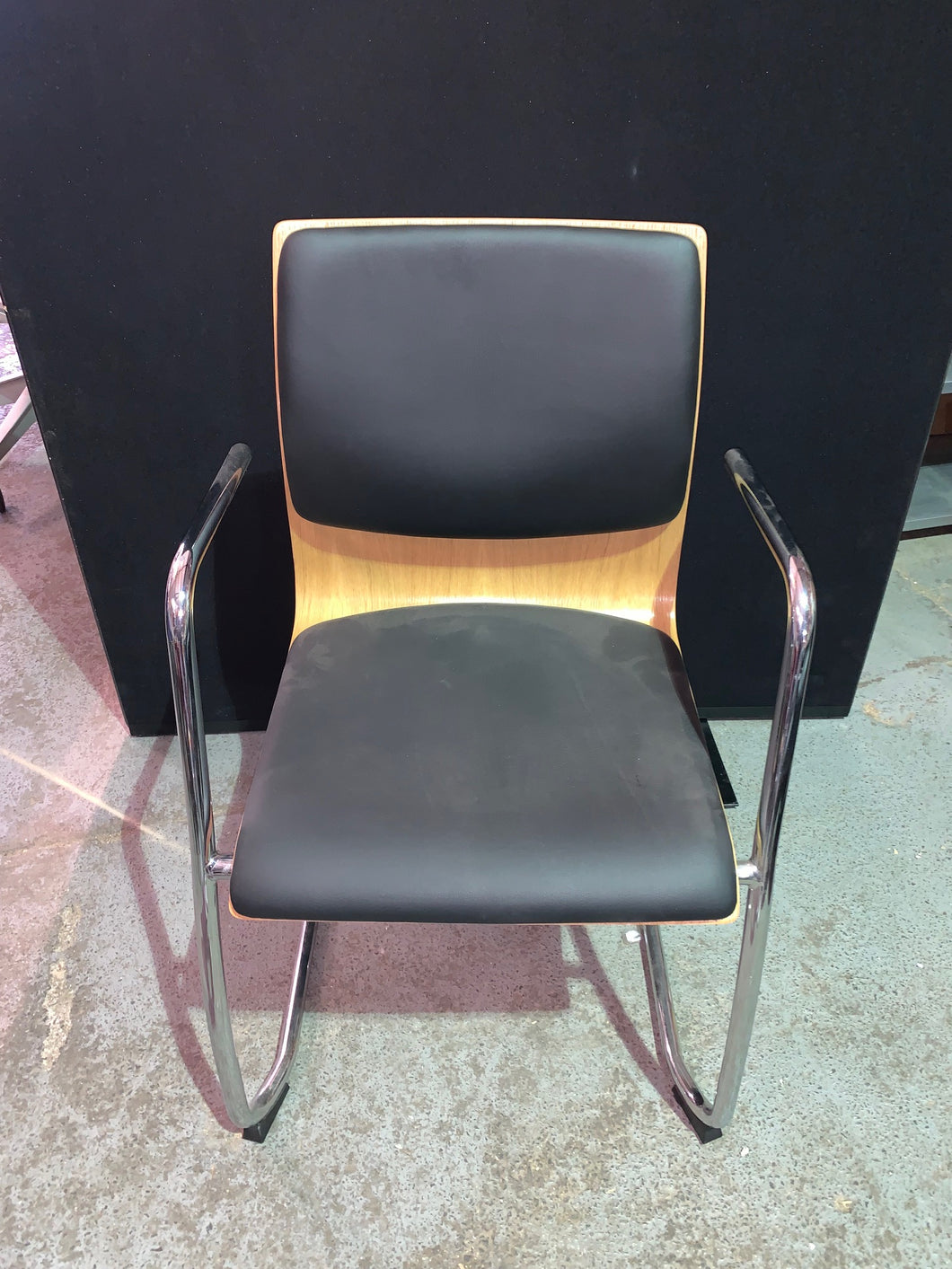 Faux Leather Meeting/Reception Chair - Flogit2us.com