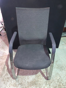 Black Mesh Back Cantilever Meeting Chair - Flogit2us.com