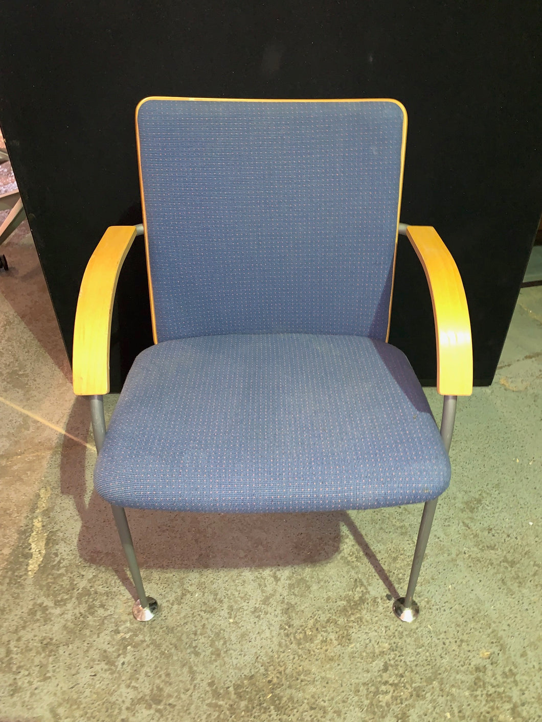 Blue Cloth Meeting Chair - Flogit2us.com
