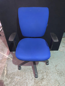 Blue Medium Back Operators Chair - Flogit2us.com