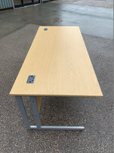 Load image into Gallery viewer, 1800mm Oak Straight Desk (New Seconds)