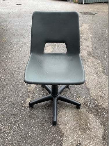 Height Adjustable Poly Swivel Computer Chair Grey - Flogit2us.com