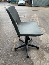 Load image into Gallery viewer, Height Adjustable Poly Swivel Computer Chair Grey