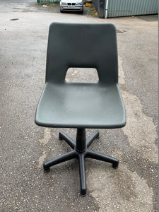 Height Adjustable Poly Swivel Computer Chair Grey