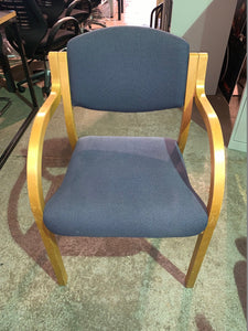 Blue Fabric Stackable Meeting/Reception Chair - Flogit2us.com