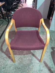 Purple Fabric Stackable Meeting/Reception Chair - Flogit2us.com
