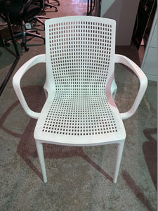 Canteen/Reception Polypropylene Stacking Chair White - Flogit2us.com