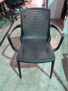 Canteen/Reception Polypropylene Stacking Chair Black - Flogit2us.com