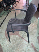 Load image into Gallery viewer, Canteen/Reception Polypropylene Stacking Chair Black - Flogit2us.com