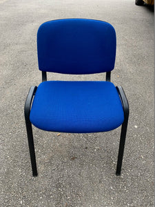 Blue Cloth Stackable Meeting/Conference Chair - Flogit2us.com