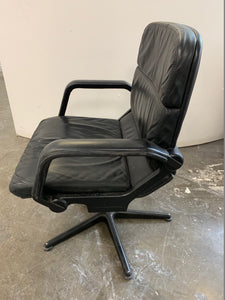 Black Leather Conference/Meeting Room Chair - Flogit2us.com