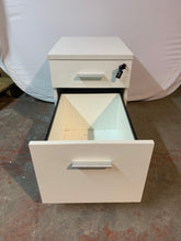 Load image into Gallery viewer, White Premium 2 Drawer Under Desk Pedestal
