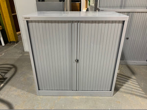 Bisley Silver Tambour Cupboard - 1000mm