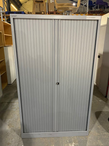 Bisley Silver Tambour Cupboard - 1650mm