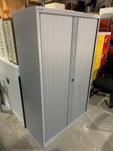 Load image into Gallery viewer, Bisley Silver Tambour Cupboard - 1650mm