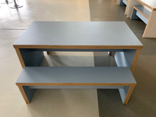 Load image into Gallery viewer, Chunky Wooden Canteen Bench Set Blue - Flogit2us.com