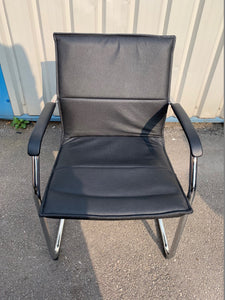 Essen Black Leather Faced Conference/Meeting Room Chair - Flogit2us.com