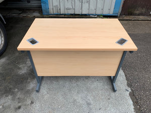 1000mm Light Beech Workstation - Flogit2us.com