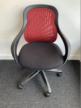Load image into Gallery viewer, Black/Red Multi Purpose Mesh Back Office Chair - Flogit2us.com