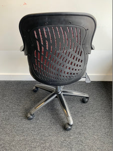 Black/Red Multi Purpose Mesh Back Office Chair - Flogit2us.com