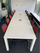 Load image into Gallery viewer, 12-14 Person Boardroom Table White - Flogit2us.com