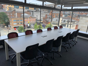 12-14 Person Boardroom Table White - Flogit2us.com