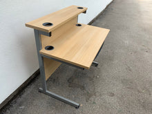 Load image into Gallery viewer, 1000mm Oak Straight Desk With Riser - Flogit2us.com