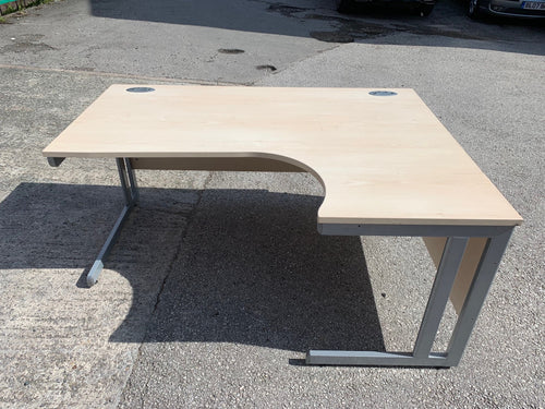 1600mm Maple Radial Desk (Web Special) - Flogit2us.com