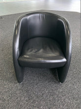 Load image into Gallery viewer, Boss Design Black Leather Tub Chair - Flogit2us.com