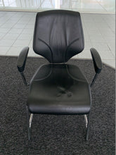 Load image into Gallery viewer, Giroflex 64 Black Leather Visitor's Chair - Flogit2us.com