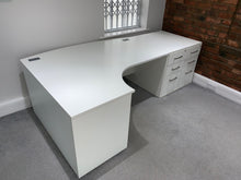 Load image into Gallery viewer, 1600mm White Premium Radial Desk - Flogit2us.com