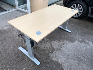 1600mm Maple Electric Rise & Fall Desk - Flogit2us.com