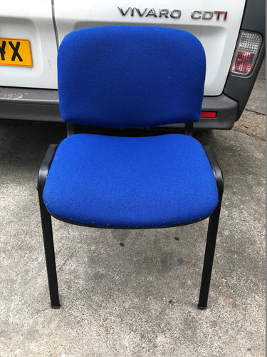 Blue Cloth Stackable Meeting/Conference Chair